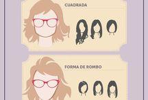 peinados y gafas