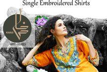 Bashir Ahmad Lawn / Single Embroidered Shirts