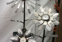 Upcycled, reclaimed treasure from trash
