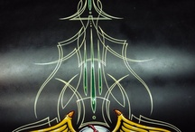 Pinstripe art