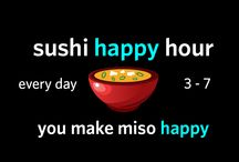 Happy Hour / You asked and we've responded. SZ is now offering Sushi Happy Hour! Every day, from 3 - 7 PM.