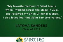 """Student Quotes / A few months ago we asked past and present students, """"Tell us your favorite memory of Saint Leo.""""  This is what we got."""