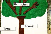 stromy, kríky