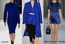 Winter 2013/14 catwalk colours! / I've had one eye on the catwalk and coordinated my jewellery range with them, GOLDS and BLUES!
