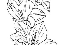 çizim çiçek