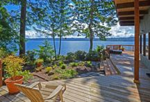 Olivers Waterfront Potlatch House / Vacation Rental on Hood Canal, Lilliwaup, Washington http://vacationhomesonhoodcanal.com/Olivers-Waterfront-Potlatch-House/