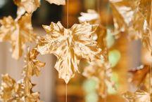 Gold Autumn wedding