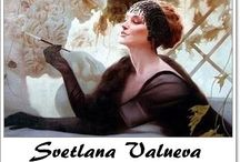 """⊱ Svetlana Valueva ⊰   / ≻ Svetlana Valueva ~ Moscow, October 24, 1966 ≺  """" It's hard today to trace back the origins of my affinity for Art Nouveau, a style which emerged on the brink of the 20th century. I feel I was destined to love this art from birth. This elaborate, refined, truly aristocratic style, regardless of subject matter, conversely captures the fragility of all earthbound existence. Decadence became second nature to me, its' reflection in my works, again being created at the crossroads of centuries """"."""