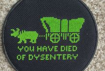 In (cross) stitches!