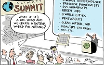 Climate change / renewable energy cartoons
