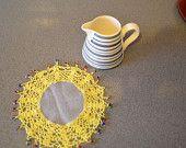 Crochet milk jug doilies