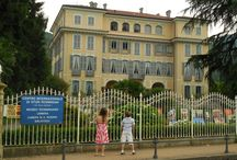 Cities in Italy - Stresa on Lago Maggiore / The beautiful lakeside town of Stresa is located just north of Milan, on Lago Maggiore, a tourist destination for Italians through the centuries and now also Americans.