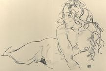 Egon Schiele  Reclining Nude with Raised Torso  1918