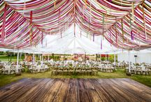 Ceiling Decorations for Wedding Reception / Create a jaw-dropping effect with a decorative canopy or DIY-friendly objects suspended from above. Check out these photos that are the stuff of wedding fantasies!