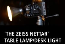 'THE ZEISS NETTAR' TABLE LAMP/DESK LIGHT / IT'S A LIGHT An independent designer-maker of funky unusual lighting for homes, offices, studios, palaces, castles and fortresses. Designer Michael Grassi works by searching out interesting manufactured objects and transforming them into amazing lights which become objects of desire. He never knows what he is going to make next and each light is inspired when he spots something intriguing. #amazing #style #cool #home #loveit #upcycling #lighting #upcycled #homeinteriors