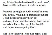 How I feel / Because I can't say it