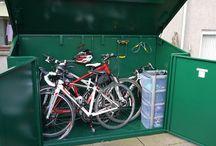 Outdoor bike sheds