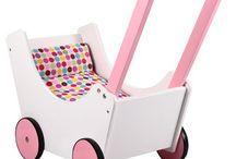 Puppenwagen oder Holz Puppenwagen / Puppenwagen für kleine Puppenmuttis sowie Zubehör zum Spielen mit Puppen.