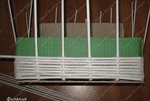 плетение из бумажных рубочек