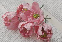 бумажные цветы / цветы мои и МК по цветам разных мастеров