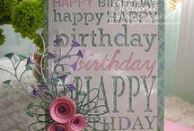 poppy stamps happy birthday background
