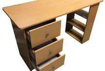 Study Desk Storage Unit Beech Drawers Home Office Furniture Computer Workstation