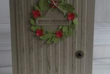 xmas wreath cards