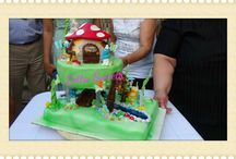 Cake Smurfs Village / Smurfs Cake.This is a cake that I made for the 2th birthday of my little boy Evangelos!