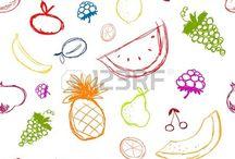 Vector de Frutas para hacer Cartel