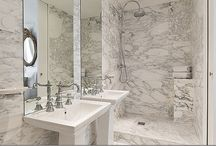 Bathrooms / Bathrooms don't have to be boring.  Tile, fixtures, floor and mirrors add to your design choices.   / by Beatriz Ball Collection