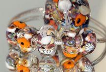 UNDERWATER WORLDS / Коллекция украшений в стиле пандора - ПОДВОДНЫЕ МИРЫ. авторский лэмпворк Веры Викторовой, Серебро Collection of jewelry. Style - European beads with large holes. Glass beads handmade by Vera Viktorova , sterling silver