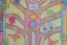 kid art - trees/leaves/fall / by ms art