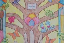 kid art - trees/leaves/fall