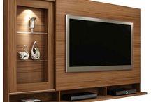 Shelves tv wall