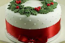 christmas cakes decorating