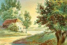 Sayfiye evleri ve manzaraar