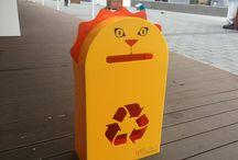 AFRİK / Çocuklara özel geri dönüşüm kutuları