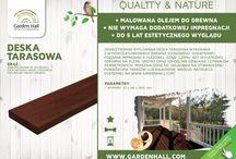 Deski tarasowe i podesty / Deski tarasowe Garden Hall