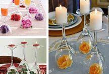 Decoração de casamento DIY - faça você mesma / Dicas de decoração de casamento DIY - Do it yourself - faça você mesma.