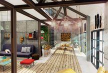 Industrial loft render / Architectural Visualization