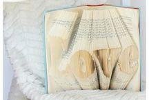 Κατασκευές με φύλλα από ένα βιβλίο