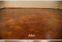 acid stain floor