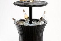 Patio Garden Ice Cooler Table Rattan Outdoor Cool Keter Bar Bucket Anthracite