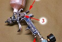 Cleaning and settings on spray guns