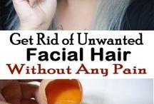 Unwanted facial hair