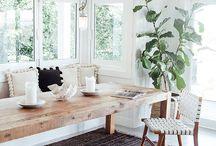 Tables pour le salle à manger en bois