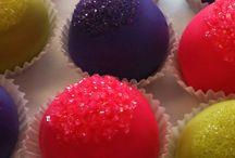 Custom Design Cake Balls / Custom Cake Bites we've made for customers!  Contact us at 214-449-8747 or via email at info@cakebites.biz to order!