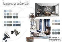 Planche d'inspiration / Planche d'inspiration avec un esprit industriel et sa gamme couleurs associée http://elagone.fr contact@elagone.fr