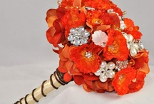 Brooch bouquets - orange