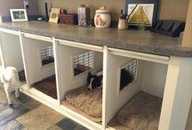 dog crates/beds